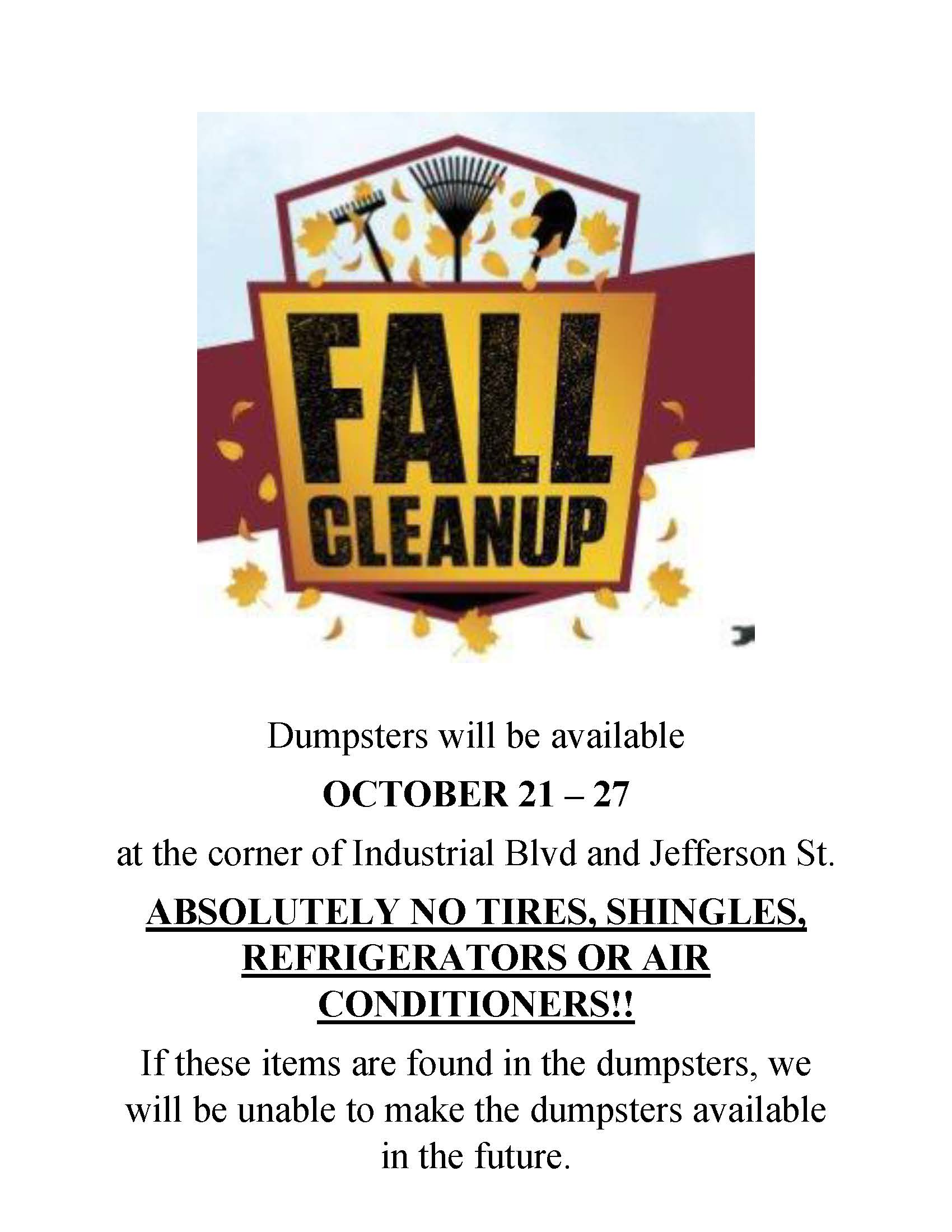 Fall Clean-up Flyer